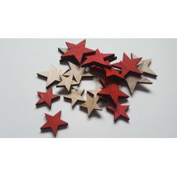 Dekorační hvězdičky dřevěné