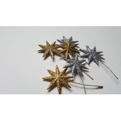 Glitterové hvězdy na drátku