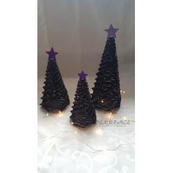 Pletený stromek černo - fialový
