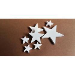 Dřevěné hvězdičky bílé